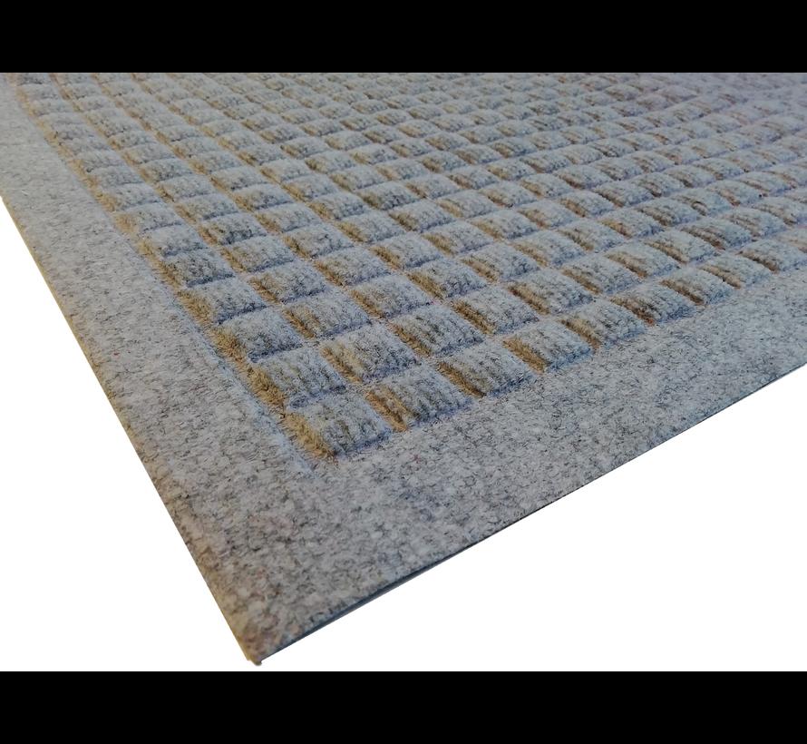 Tapis grattant aiguilleté avec carré dessin gris
