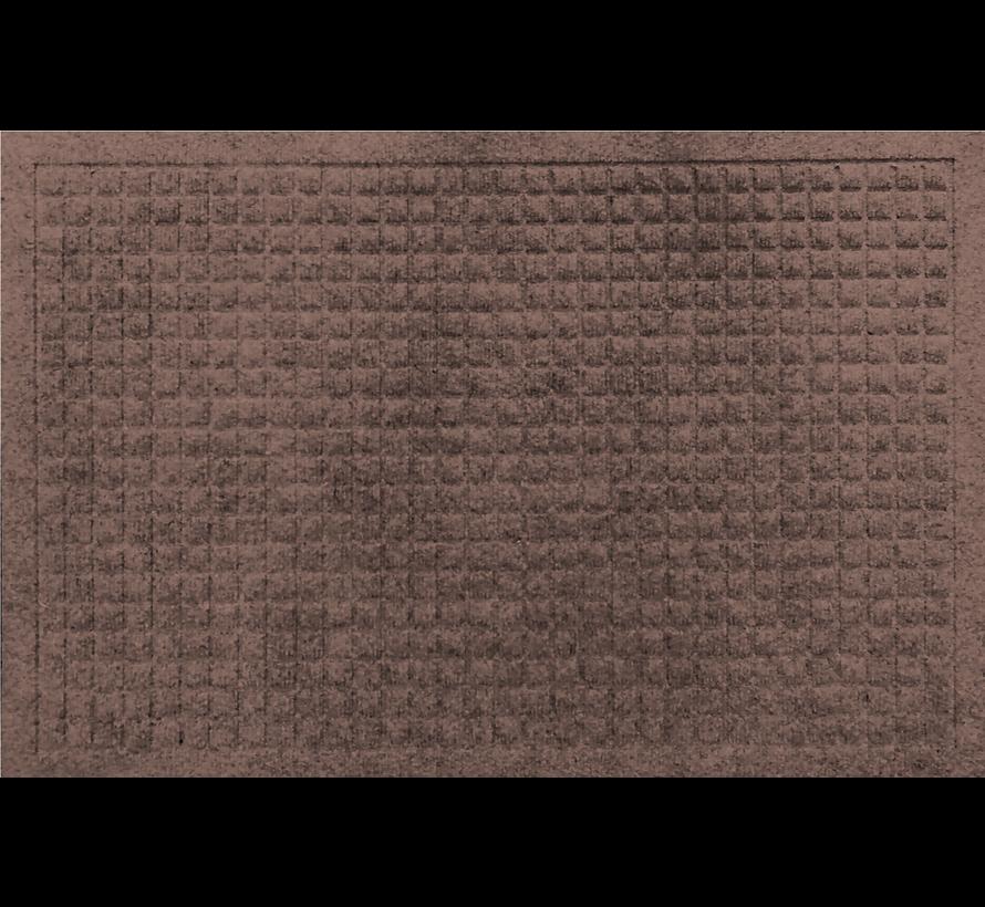 Tapis grattant aiguilleté avec carré dessin brun