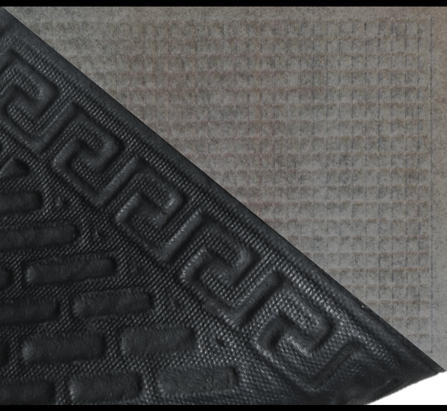 Tapis grattant aiguilleté avec carré dessin anthra