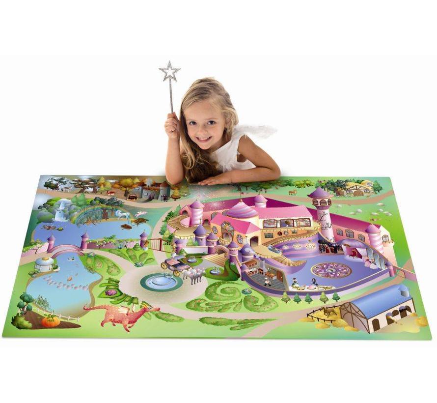 Tapis de jeu château princesses