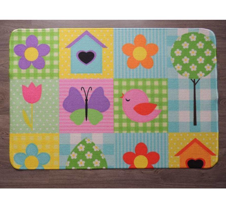 Tapis pour chambre d'enfant multicolore