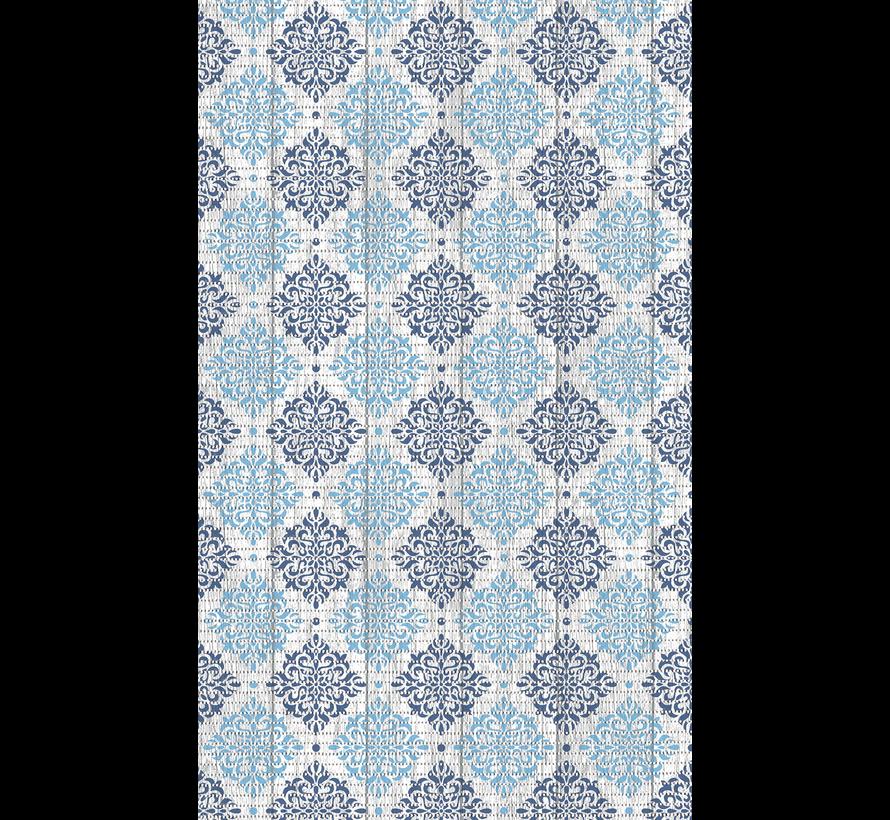 Tapis antidérapants sur mesure, motif élégant bleu