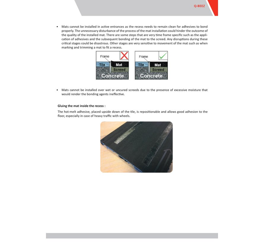 Entreemat plankformaat antraciet