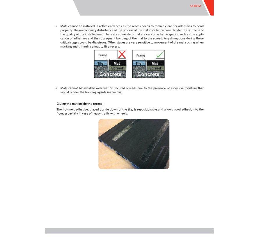Tapis d'entrée modulaires en format planche, anthracite