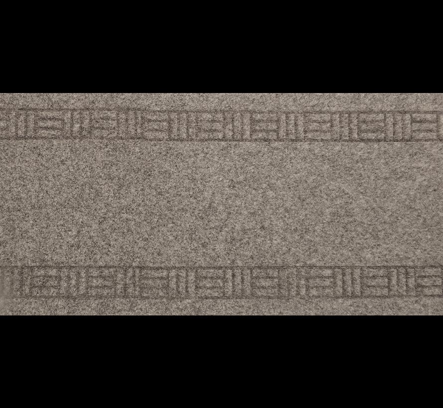 Tapis de couloir beige sur mesure, 66cm largeur