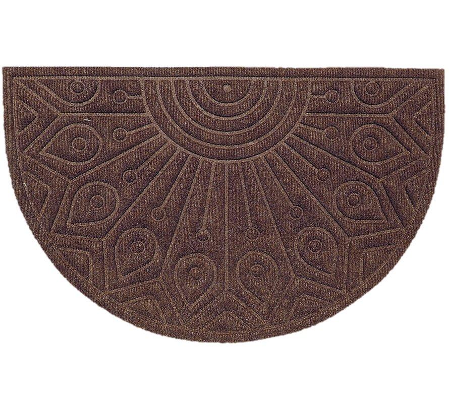 Schrapende naaldvilt deurmat halfrond bruin