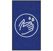 Tapis COVID anti-poussière professionnel, pour l'intérieur, symbole lavez les mains