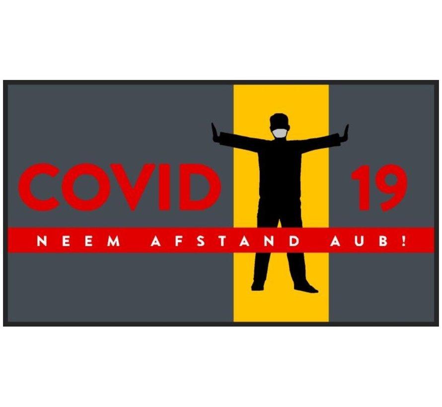 Tapis COVID anti-poussière professionnel, pour l'intérieur, svp gardez la distance