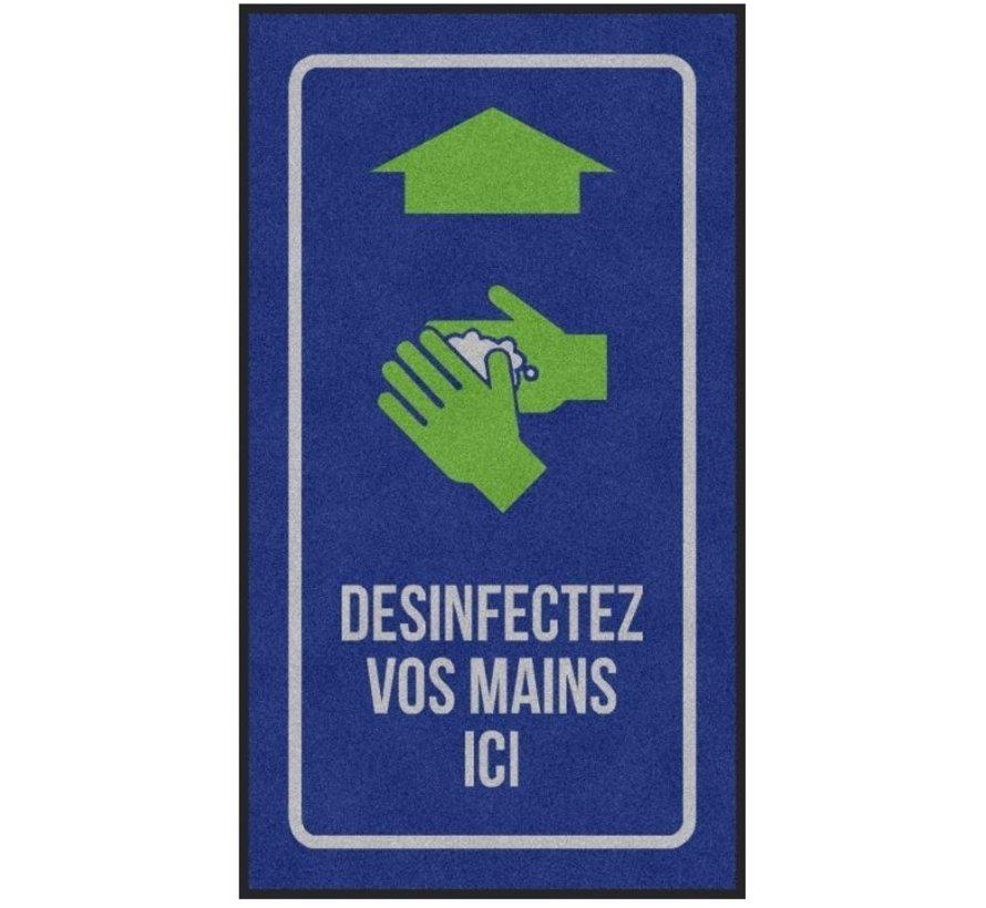 Tapis COVID anti-poussière professionnel, pour l'intérieur, désinfectez vos mains