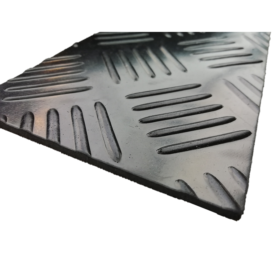 Tapis caoutchouc checker, 3mm