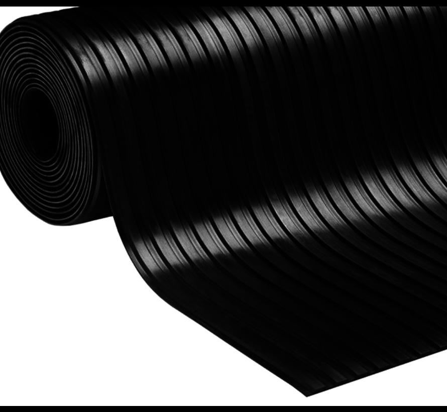 Tapis caoutchouc stries larges sur mesure, 6mm