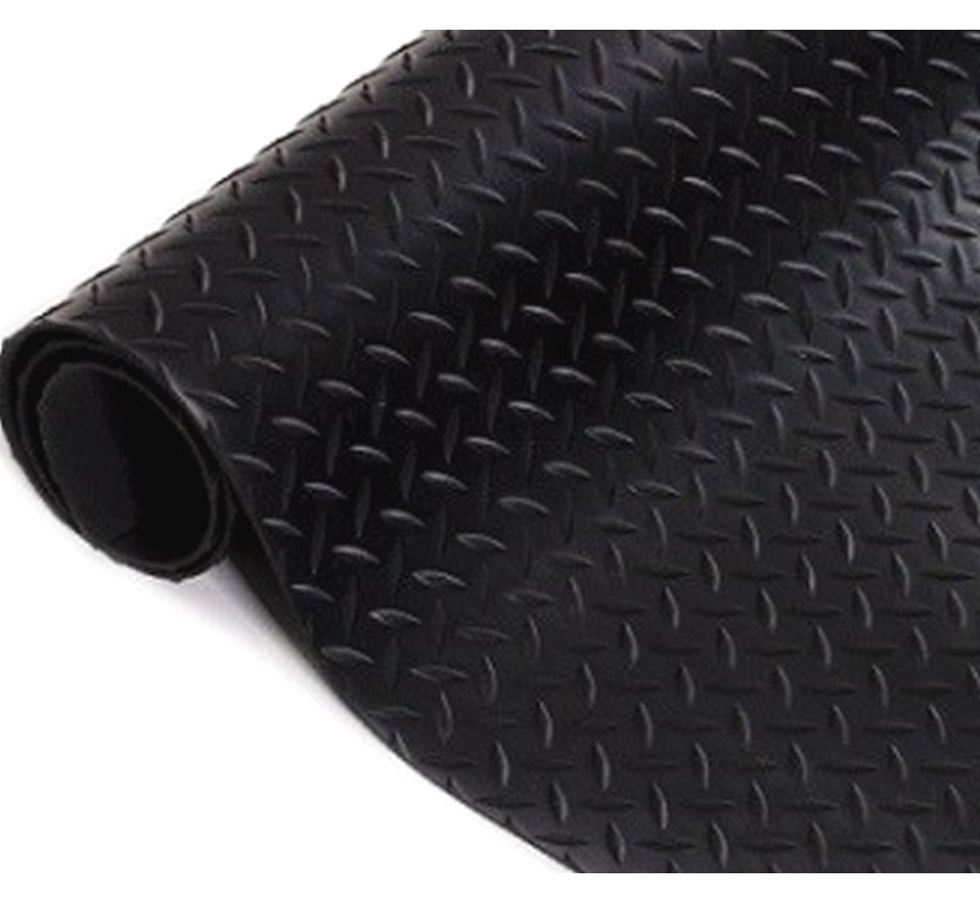 Tapis caoutchouc motif diamant, 3mm
