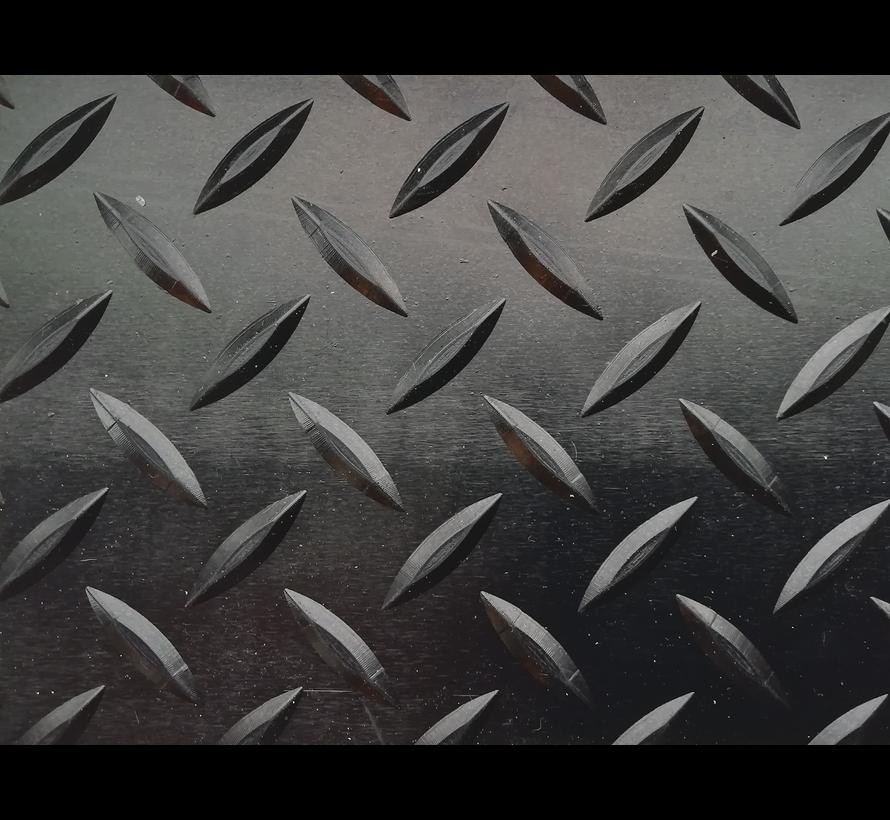 Rubberen loper op maat met diamantmotief, 5mm