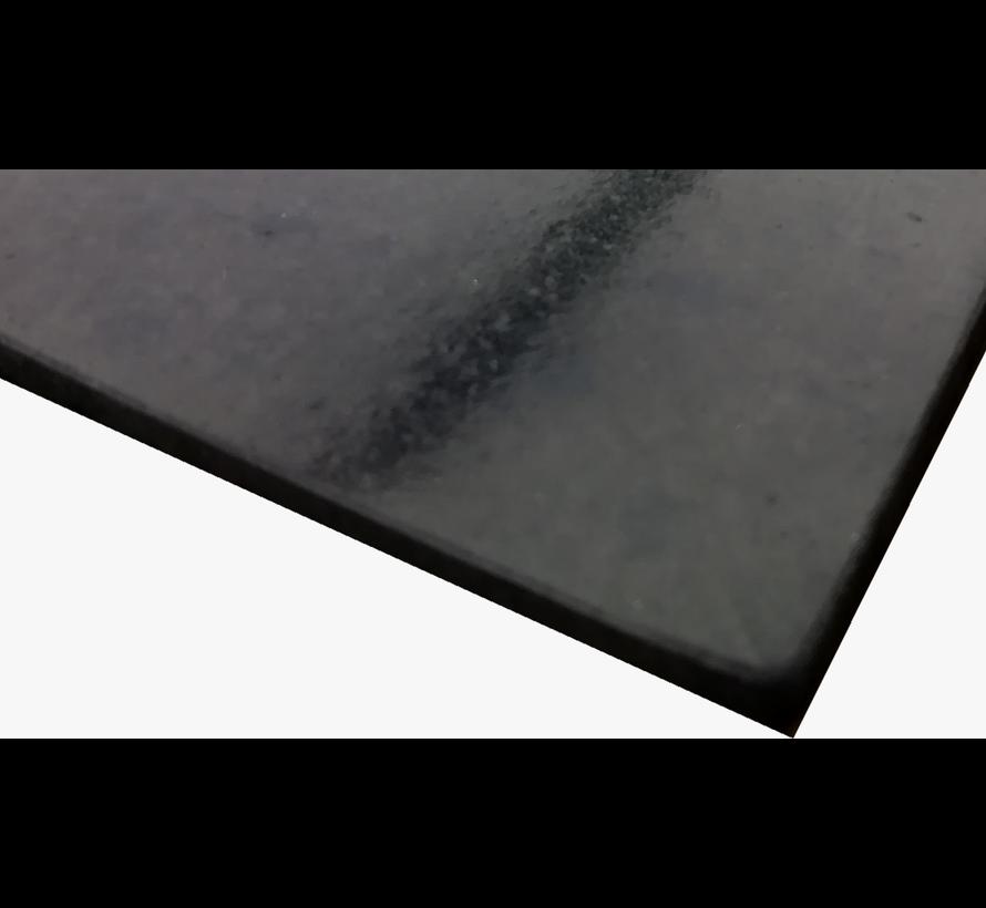 Vlakke rubberen loper op maat, 3mm