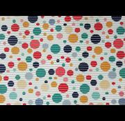 Tapis antidérapants sur mesure, boules multicolores