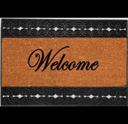 Paillasson en coco imprimé et caoutchouc, Welcome