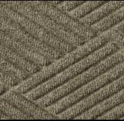 Professionele schrapende en absorberende mat met diamant patroon voor binnen, bruin