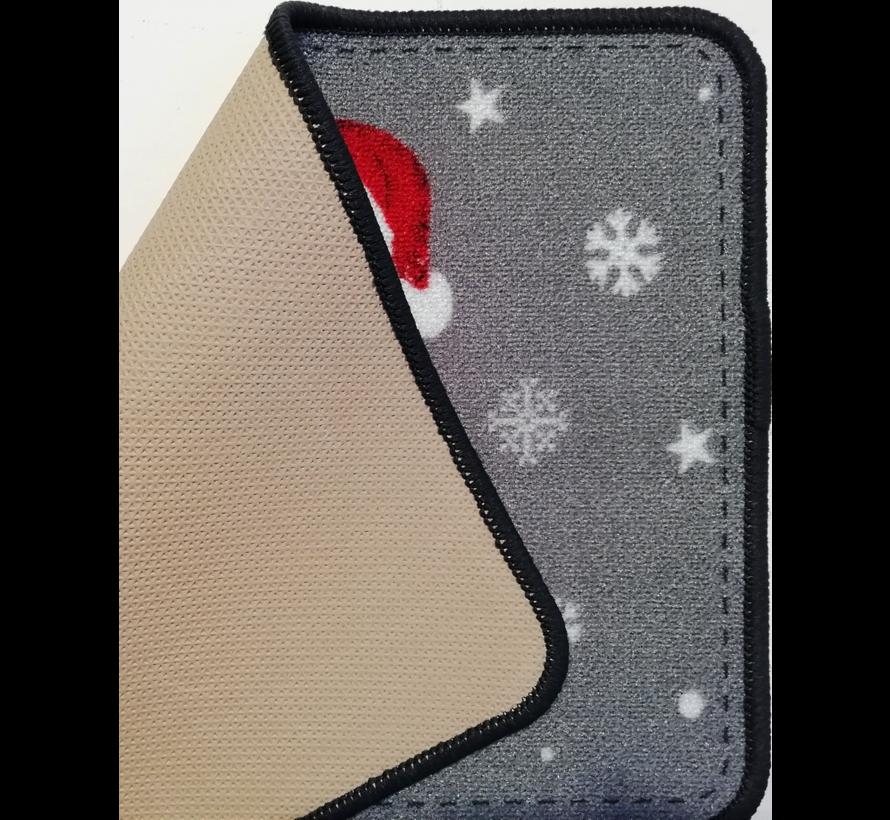 Tapis de Noël imprimé, bonhomme de neige