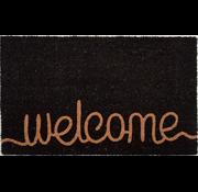 Tapis coco imprimé Welcome