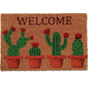 Tapis coco imprimé avec des cactus