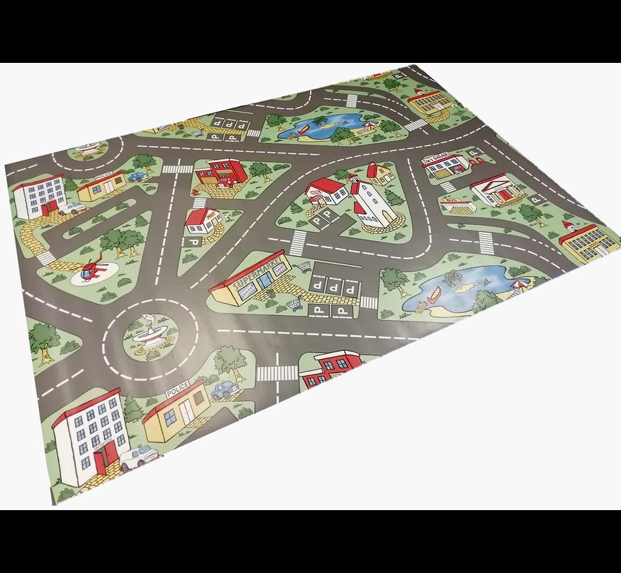 Hygiënische speelmat stratenplan