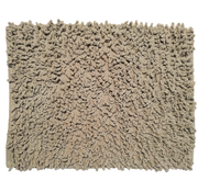 Badmat chenille taupe