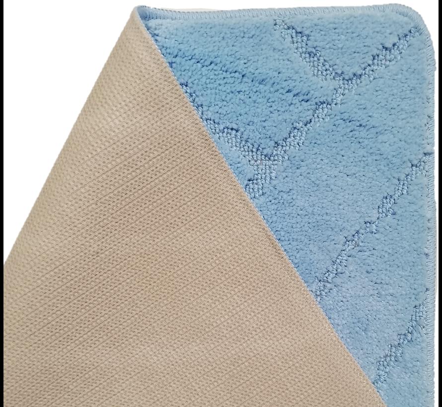 Tapis de bain set classique bleu