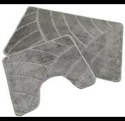 Tapis de bain set classique gris