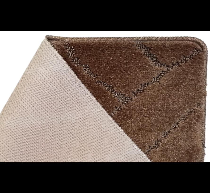 Tapis de bain set classique brun