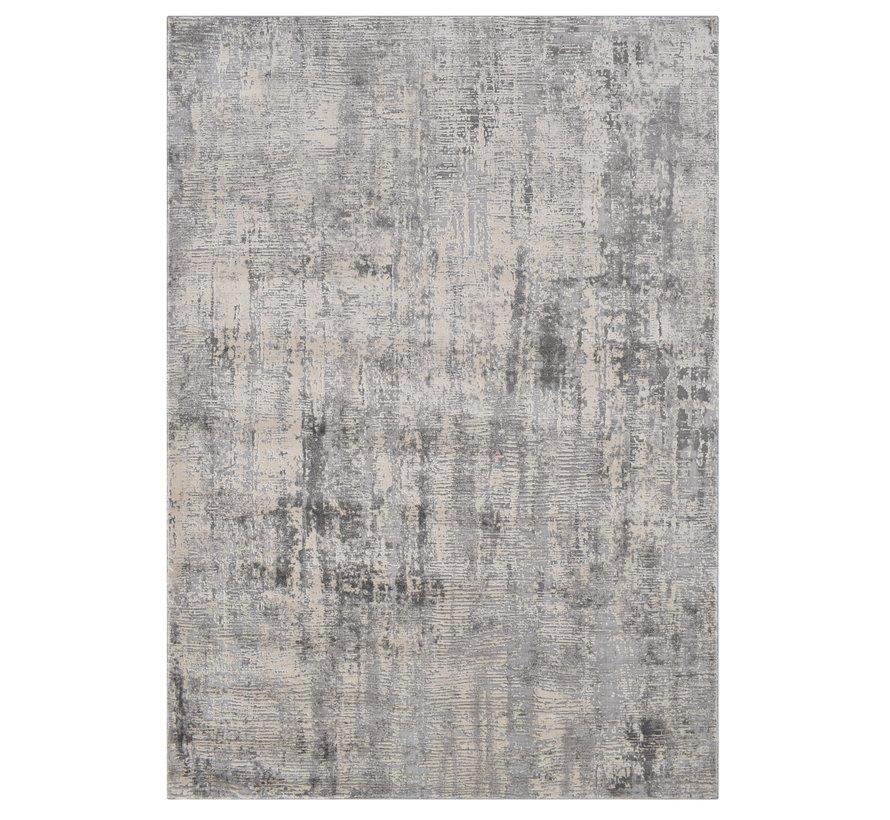 Modern tapijt in crème en lichtgrijs