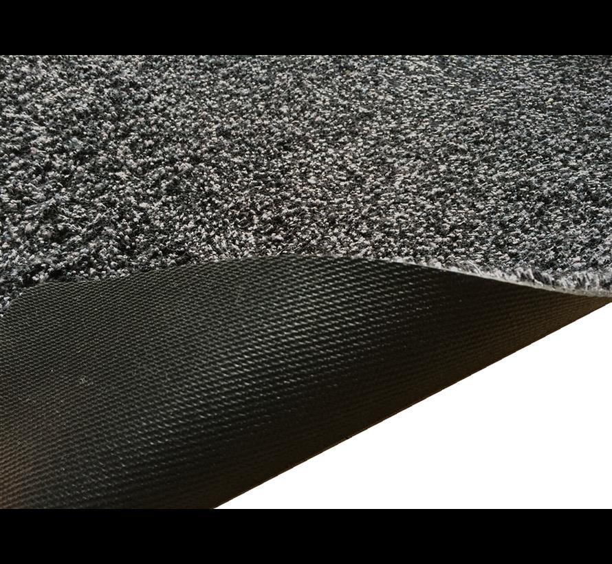 Tapis d'entrée écologique noir en coton sur mesure, 78cm