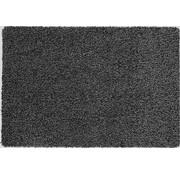 Tapis d'entrée écologique noir en coton sur mesure, 58cm