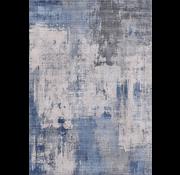 Tapis vintage, imprimé, bleu
