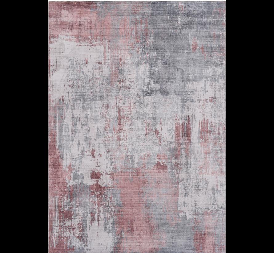Vintage tapijt, bedrukt, oudroze