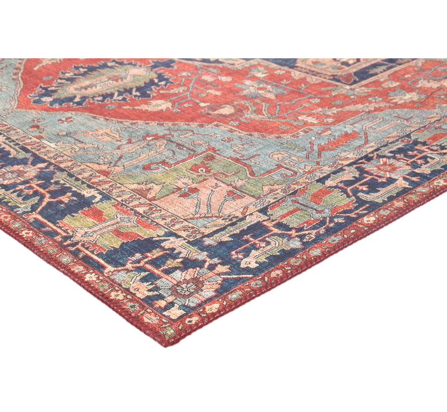 Vintage tapijt, etnisch dessin, bedrukt