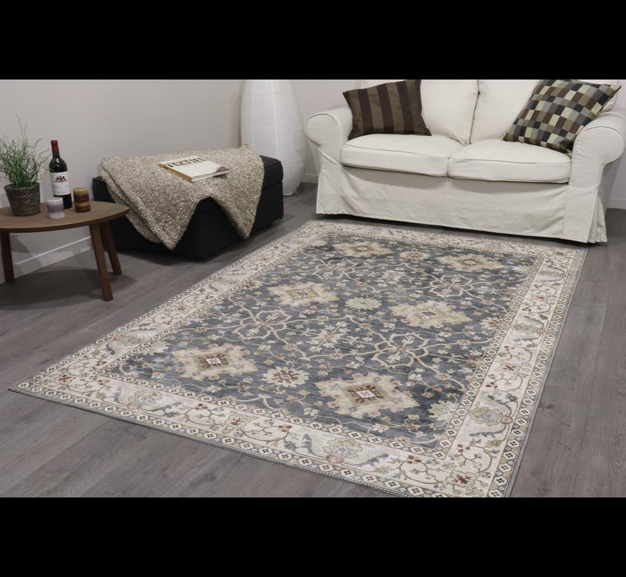 Vintage tapijt, klassiek, bedrukt, grijs