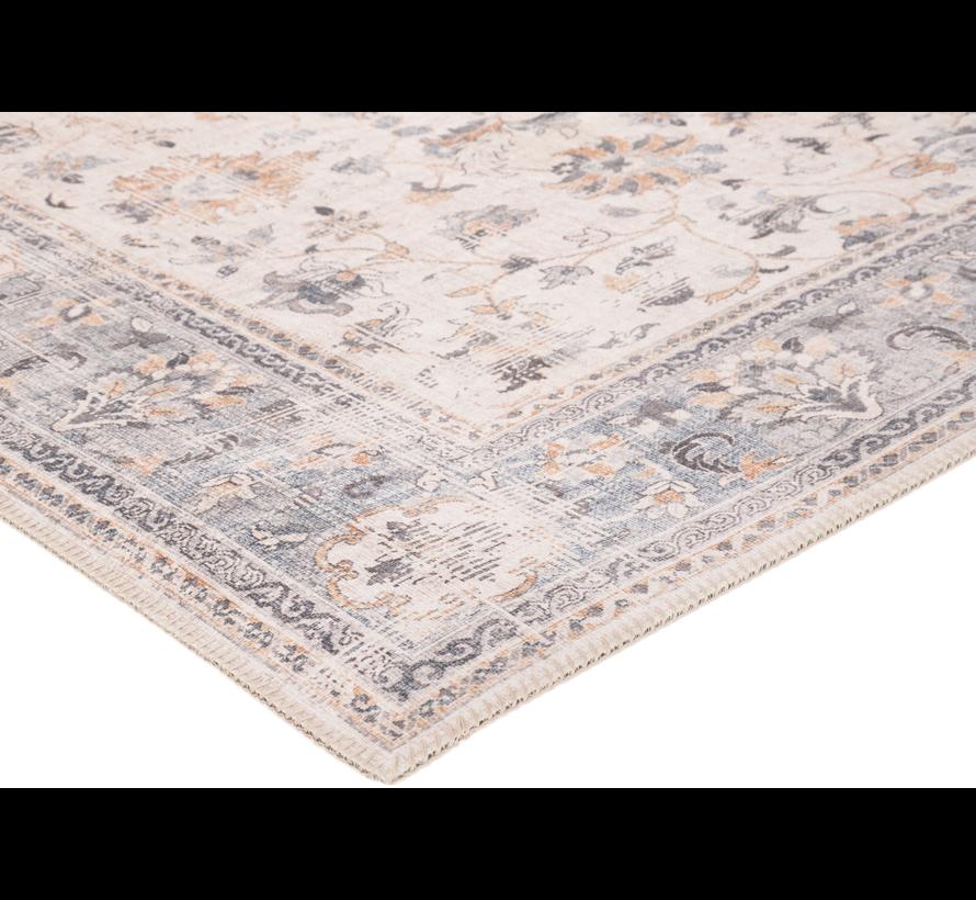Vintage tapijt, klassiek, grijs