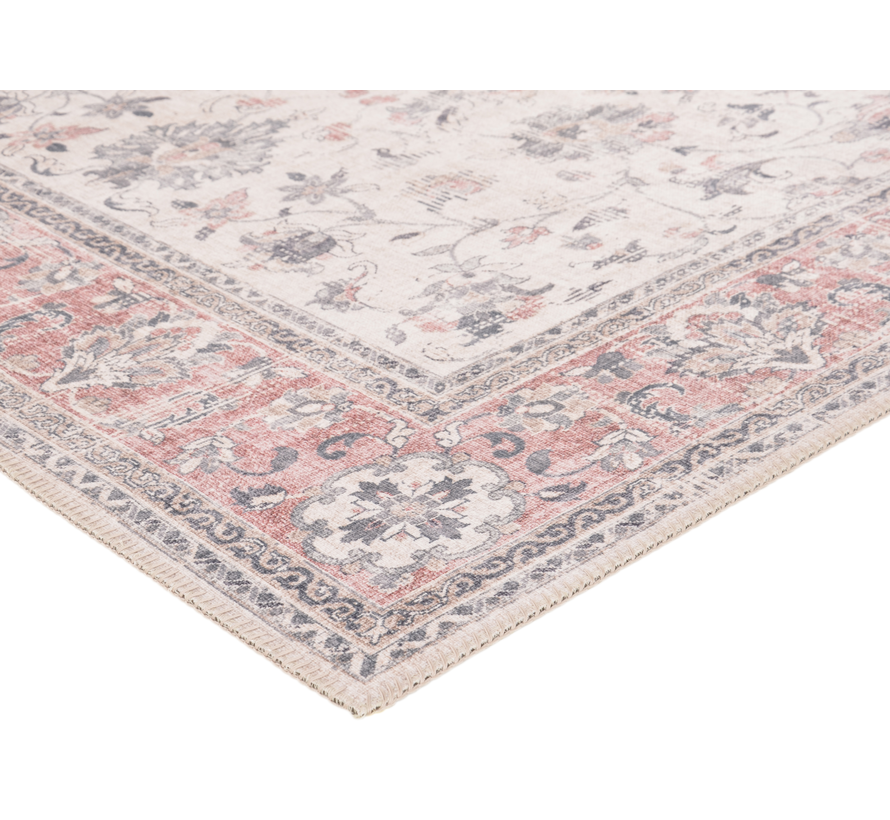 Vintage tapijt, klassiek, roze