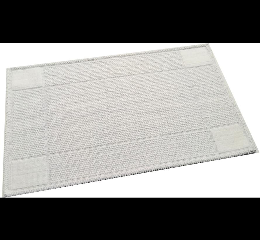 Tapis de bain coton antidérapant, blanc