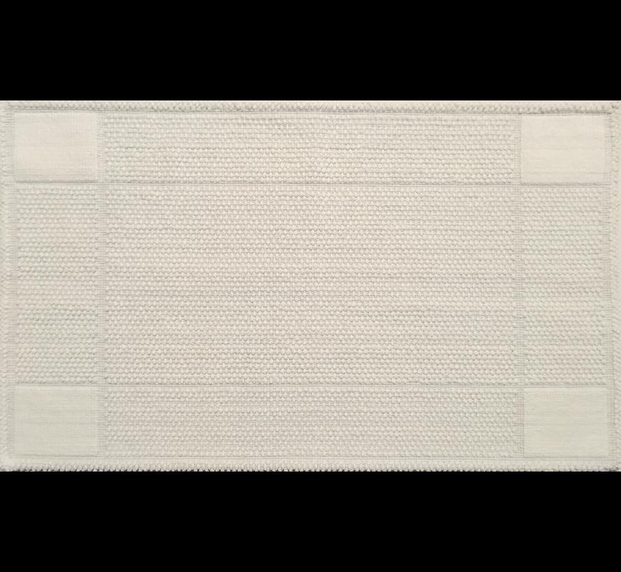 Katoenen badmat antislip, wit