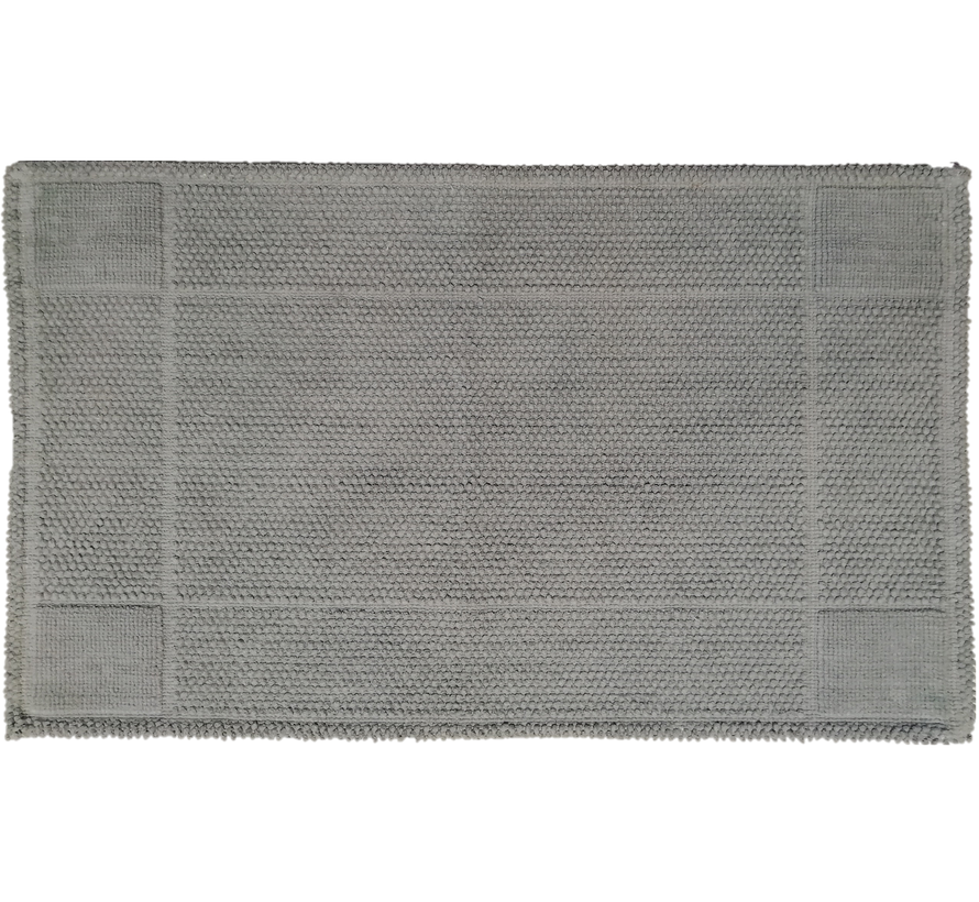 Katoenen badmat grijs