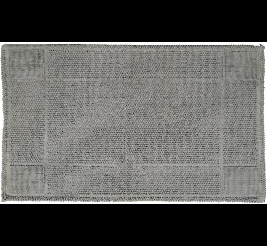 Tapis de bain coton antidérapant, gris