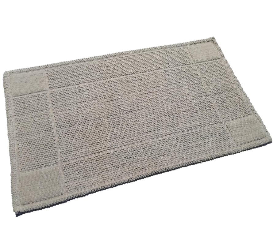 Tapis de bain coton gris clair