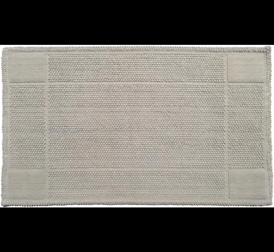 Katoenen badmat antislip, lichtgrijs