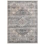 Klassiek tapijt in crème en donkergrijs