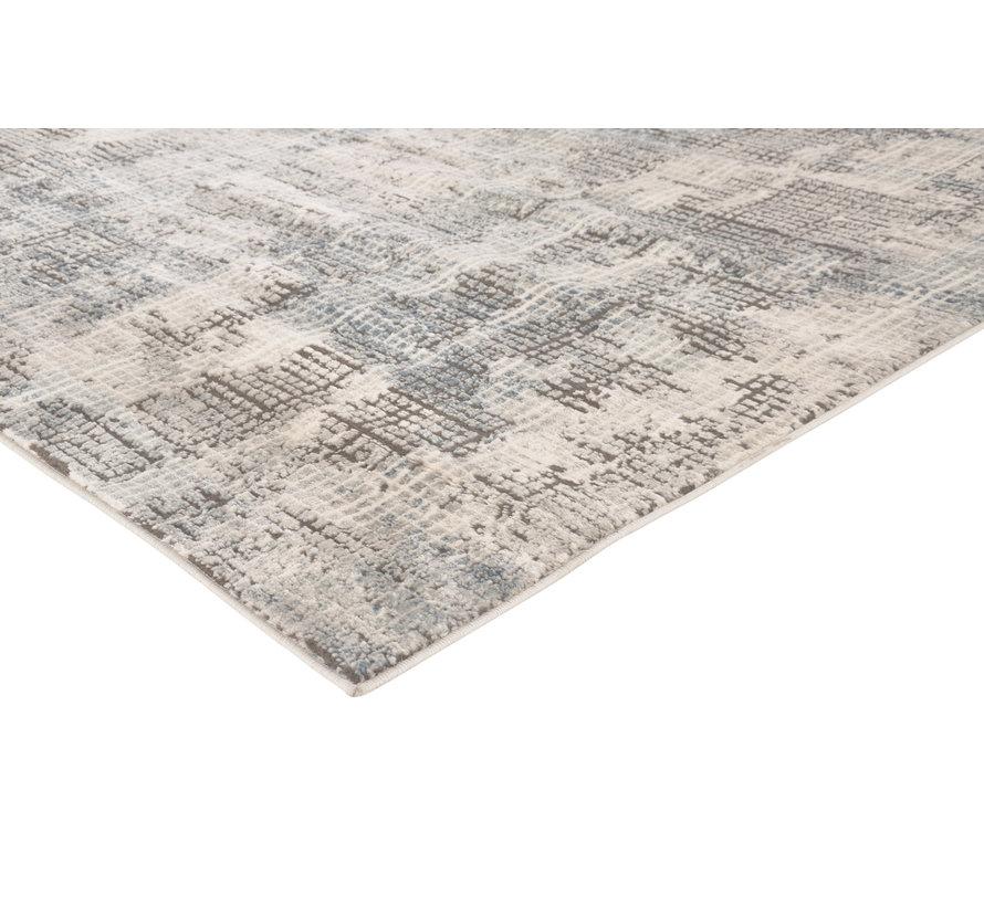 Modern tapijt in donkergrijs en beige
