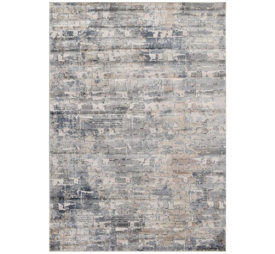 Modern tapijt in crème en donkergrijs