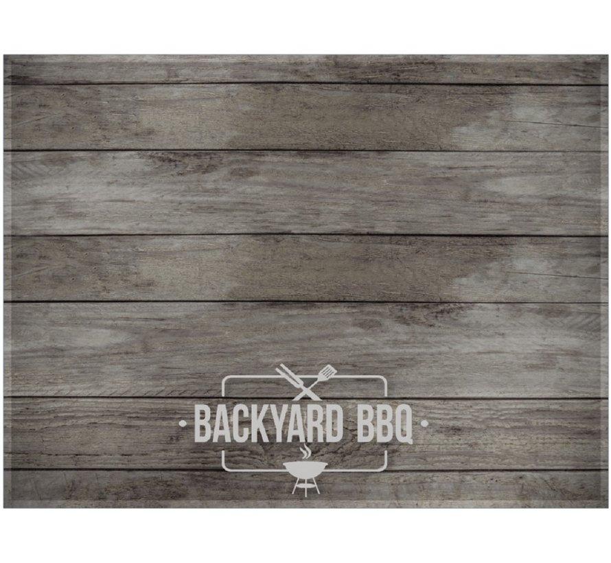 Tapis barbecue imprimé, brun gris