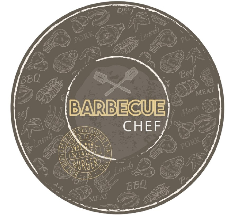 Tapis barbecue rond