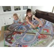 Speelmat voor tafel verkeer